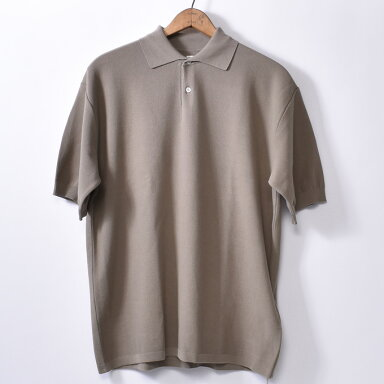 Kaptain Sunshine Knit Polo Collar Shirt KS8SKN04: Safari