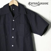【KAPTAIN SUNSHINE】キャプテンサンシャインVACATION SHIRTバケーションシャツNAVY ネイビー