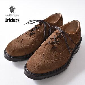 【Tricker's】トリッカーズM7533 Thistle Gillie Country ShoesシィスルギリーカントリーシューズSNUFF ブラウンスウェード《S-30》
