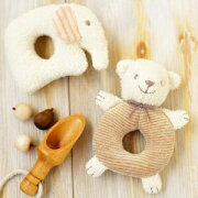 オーガニックコットン がらがら ハマナカ 赤ちゃん おもちゃ コットン オーガニック