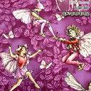 USA Cotton 花と妖精Flower FAIRIES PURPLE(単位50cm)