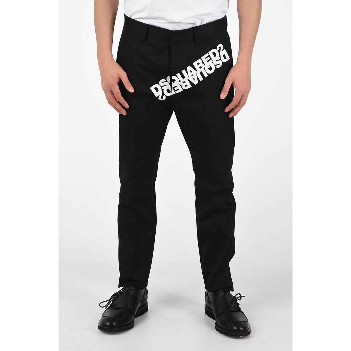 メンズファッション, ズボン・パンツ DSQUARED2 Black Low-Waist HOCKNEY FIT Pants dk