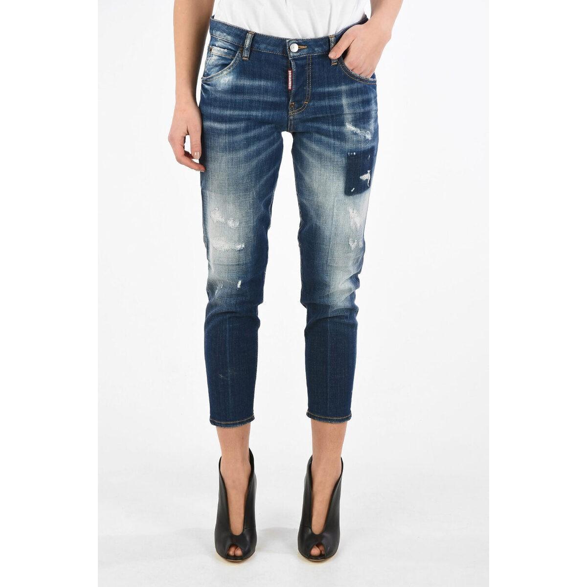 ボトムス, パンツ DSQUARED2 Blue Stonewashed HOCKNEY Jeans dk
