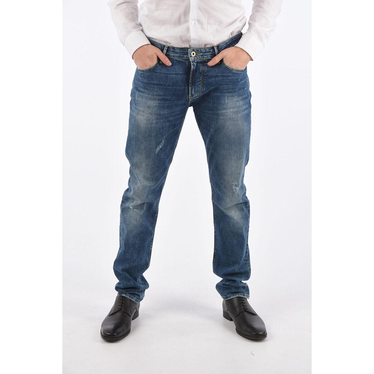 メンズファッション, ズボン・パンツ ARMANI JEANS Blue ARMANI JEANS 17cm Stonewashed J06 Slim Fit Jeans dk