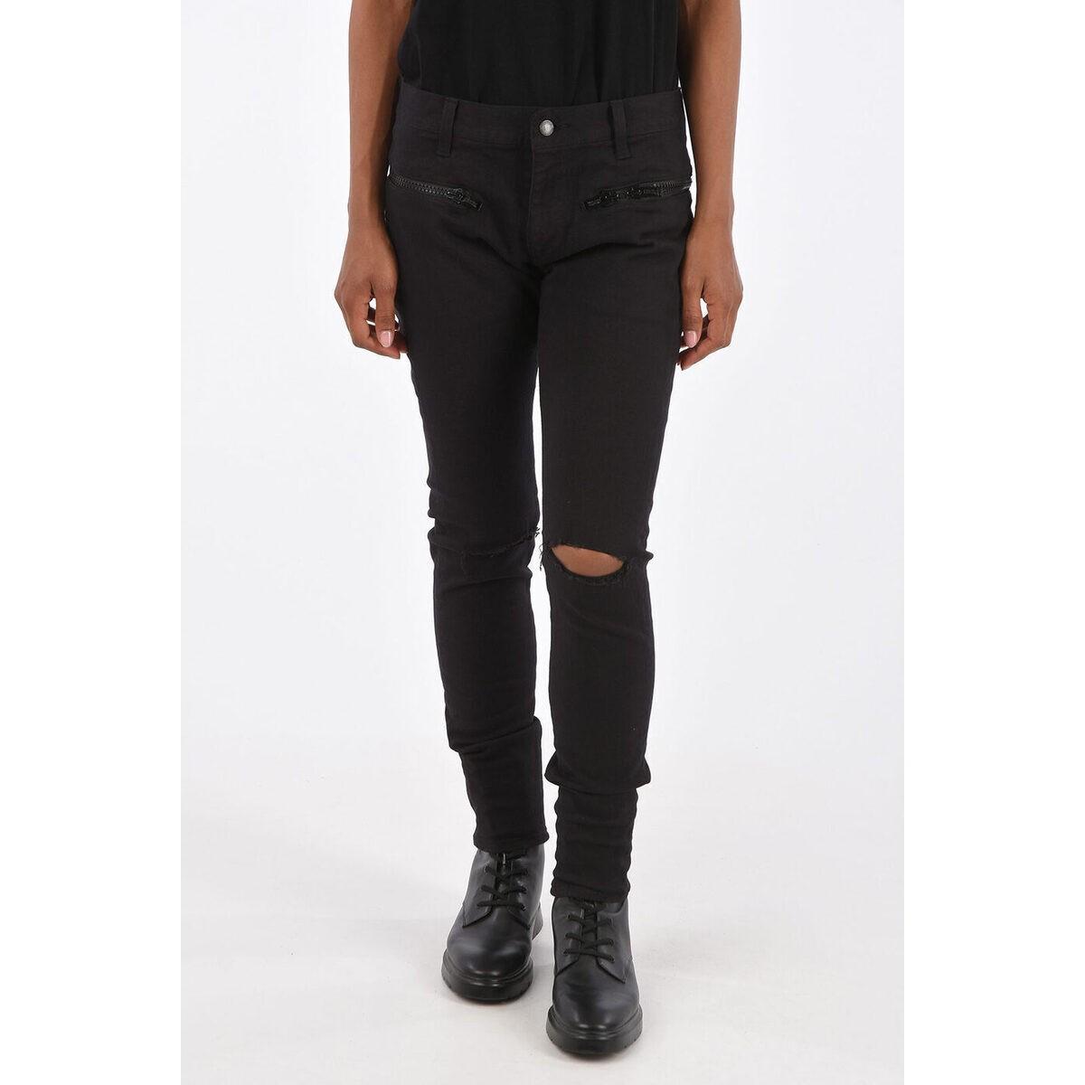 ボトムス, パンツ UNDERCOVER Black High Rise Skinny Fit Jeans dk