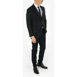 ERMENEGILDO ZEGNA エルメネジルド ゼニア Black スーツ メンズ ZZEGNA TECHMERINO Wool 2 Button Suit 【関税・送料無料】【ラッピング無料】 dk