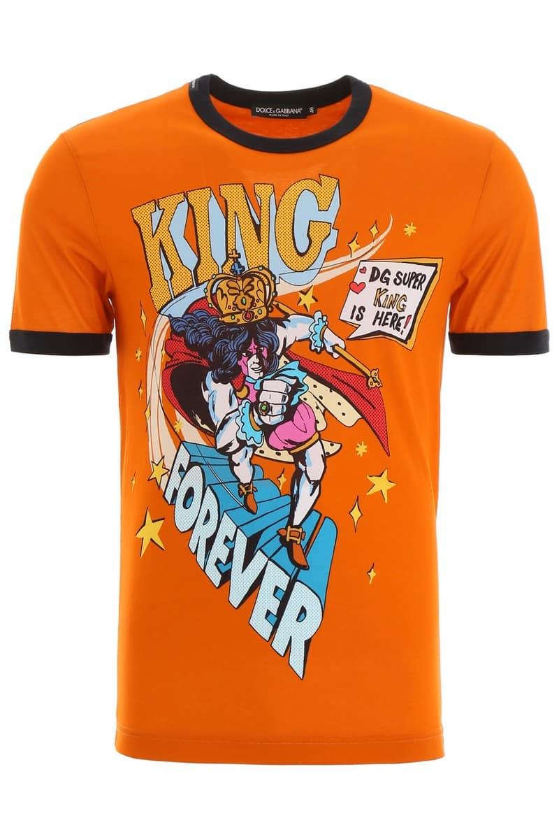 DOLCE&GABBANA/ドルチェ&ガッバーナ Tシャツ KING FOREVER F ARANC Dolce & gabbana king forever t-shirt メンズ 秋冬2019 G8JX7T HH79V ik