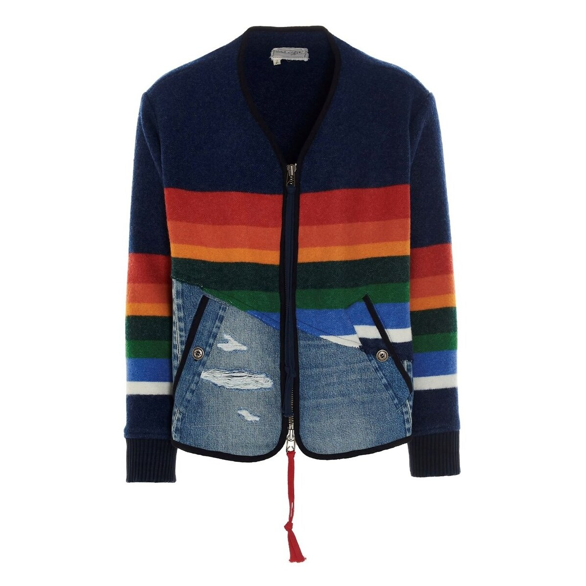 メンズファッション, コート・ジャケット GREG LAUREN Multicolor 5050 modern flight jacket 2021 BM020MULTI ju