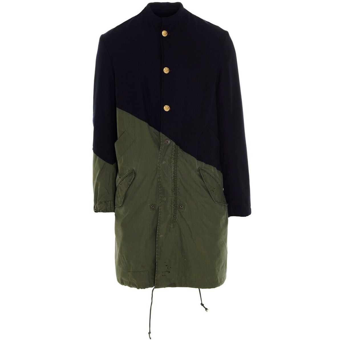 メンズファッション, コート・ジャケット GREG LAUREN Multicolor 5050 officer modern artist parka 2021 BM011NAVYARMY ju