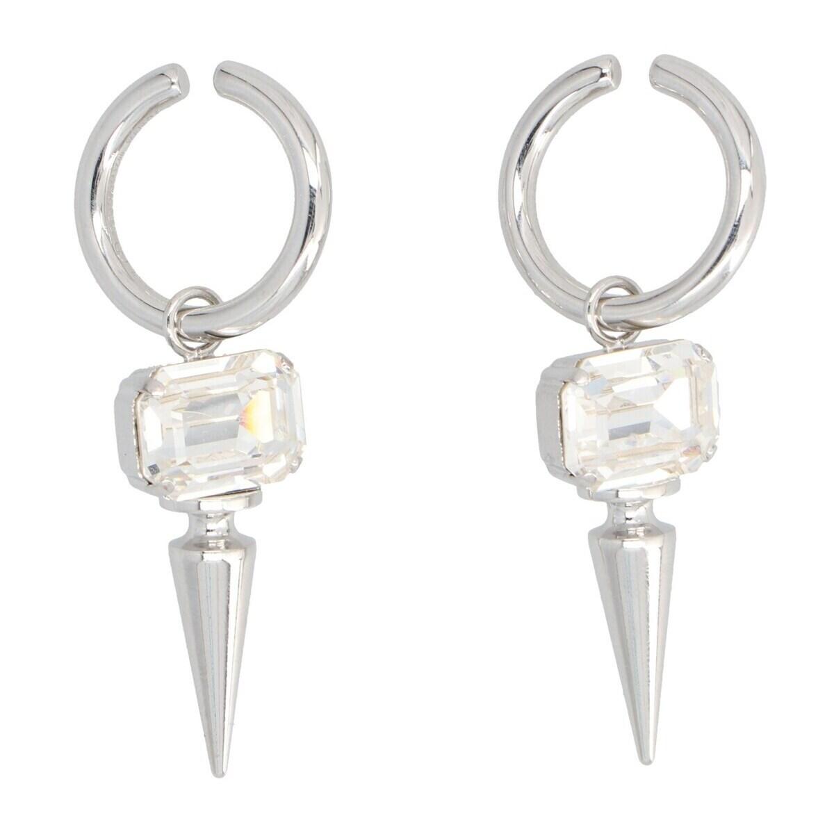 レディースジュエリー・アクセサリー, 指輪・リング JUNYA WATANABE COMME DES GARCONS Silver Jewel stud earrings 2021 JHK8050511 ju