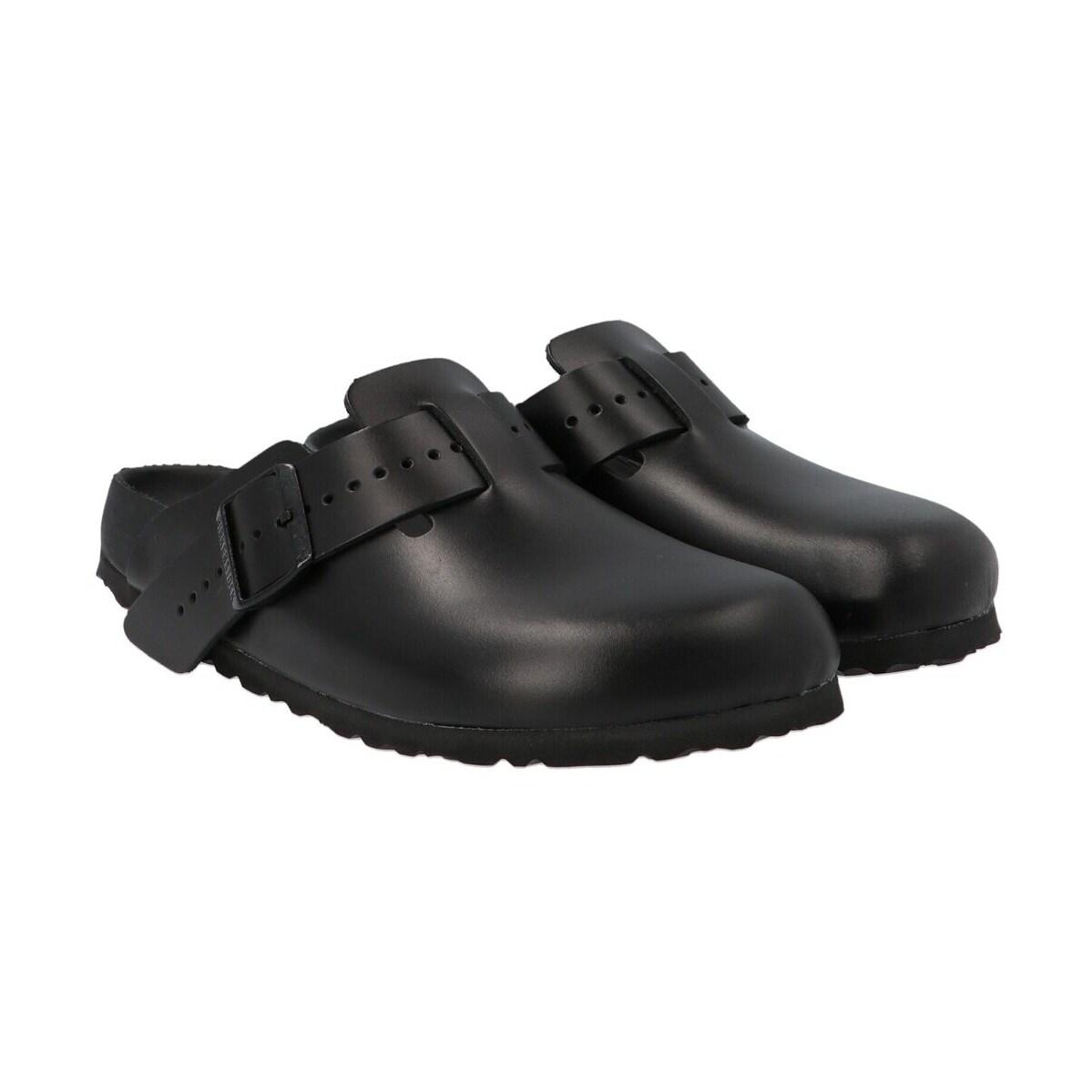 レディース靴, スリッポン RICK OWENS Black Boston and Birkenstock collab. slides 2021 BW21S38091946809 ju