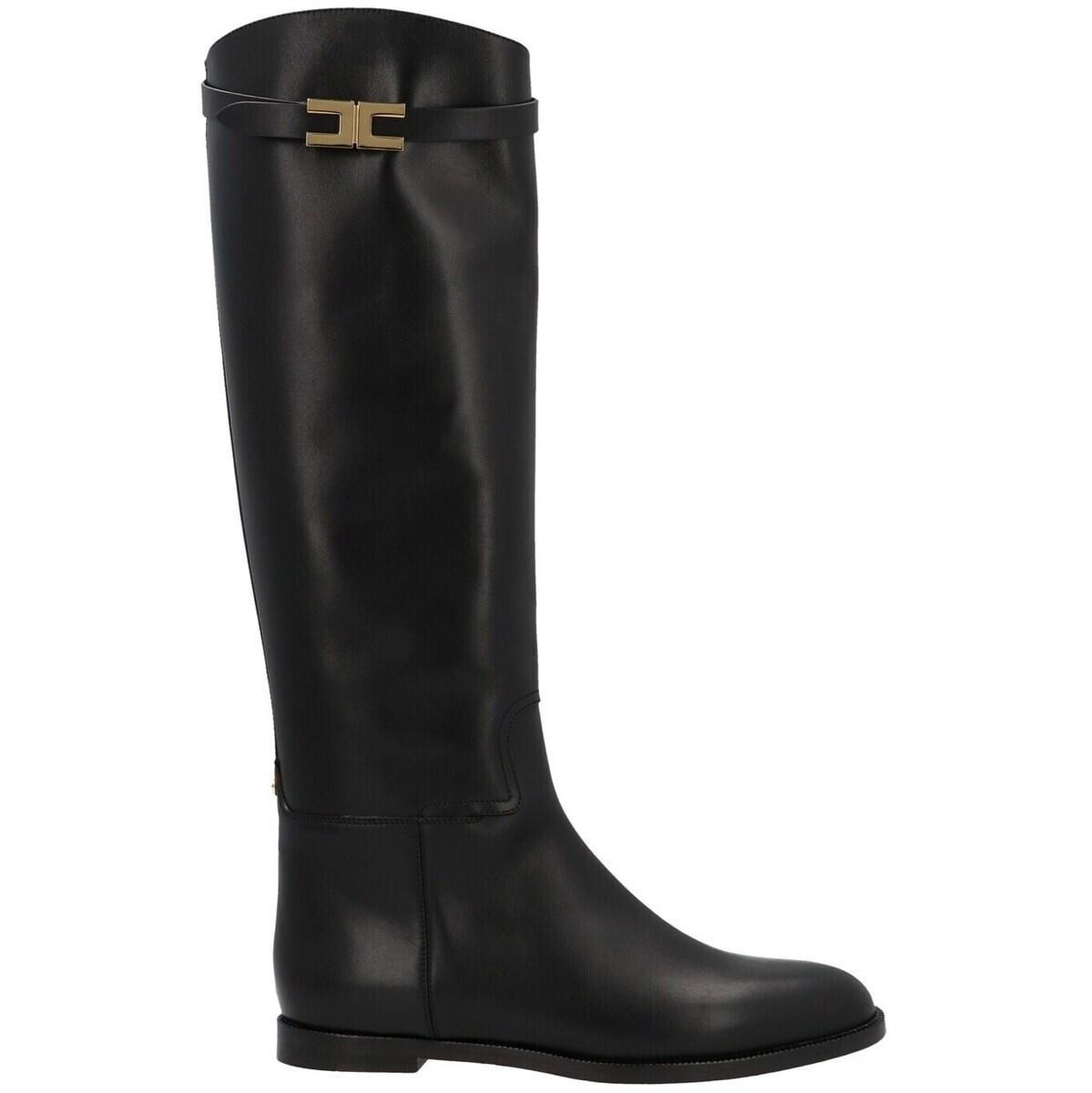 ブーツ, その他 ELISABETTA FRANCHI Black Riding boots 2021 SA39C16E2110 ju