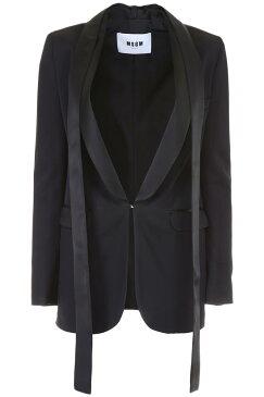 MSGM/エムエスジーエム タキシードジャケット NERO Msgm tuxedo jacket レディース FW2018 2543MDG04Y 184727 ik