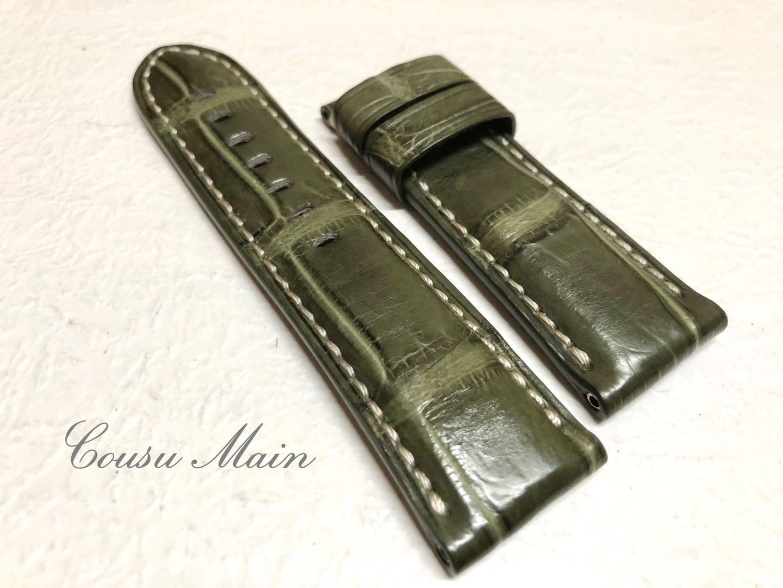 腕時計用アクセサリー, 腕時計用ベルト・バンド CousuMain24mm-22mm PANERAI 44mm R383