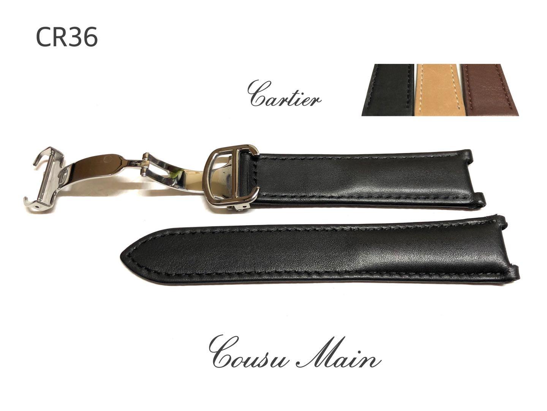 腕時計用アクセサリー, 腕時計用ベルト・バンド CousuMain20mm-18mm cartier 38mm DCR36CR37CR38