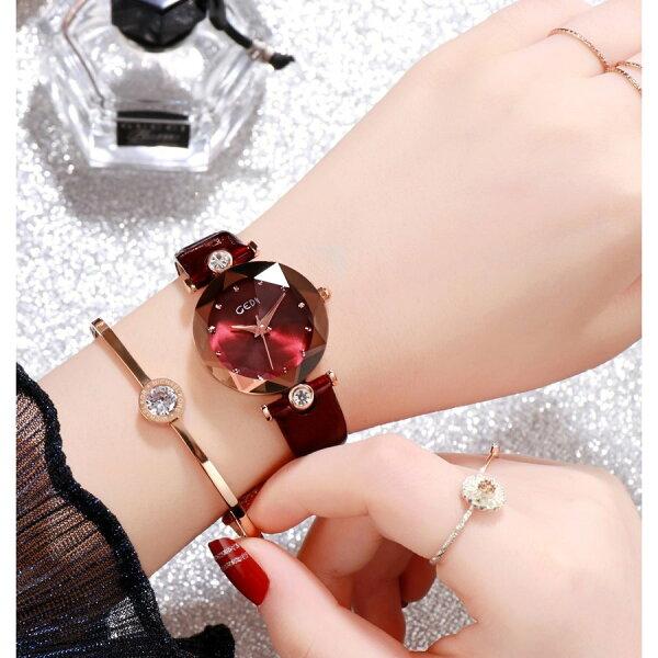 レディースウォッチ大ヒット中 GEDI 海外人気ブランド レディース腕時計ウォッチ防水女性誕生日プレゼント可愛いオシャレ7色