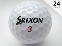 Iクラス2017年モデルスリクソンZ-STARXVホワイト24球セット送料無料ロゴマーク入り/ロストボール【中古】
