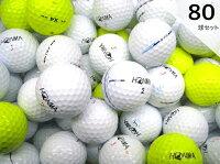 Rクラスホンマゴルフシリーズ(TW系、FUTURE-XX、X4)80球セット/ロストボール【中古】