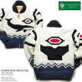 カウチンセーター(カウチンジャケット) CanadianSweaterCompany(カナディアン・セーター・カンパニー)・カナダ製 CSC-1012wxWHALE(ホエール) オフホワイト メンズ ウール100%(ヘリテージヤーン) フルオープン ジップアップ 長袖