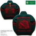 カウチンセーター(カウチンジャケット)|CanadianSweaterCompany(カナディアン・セーター・カンパニー)・カナダ製|CSC-1014erdINDIAN(インディアン)|グリーン|メンズ|ウール100%(ヘリテージヤーン)|フルオープン|ジップアップ(two-wayZipper)|長袖