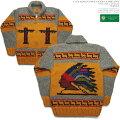 カナディアンセーター|カウチンセーター(ジャケット)|CanadianSweaterCompany(カナディアンセーターカンパニー)|カナダ製|CSC-2014INDIAN(インディアン)|イエロー|メンズ|ウール100%|6プライヤーン|フルオープン|ジップアップ|長袖