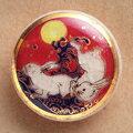 薩摩ボタン|Satsuma Buttons(20mm)|SBM-017 波うさぎ(赤)|アロハタワー(アロハシャツ販売)