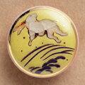 薩摩ボタン|Satsuma Buttons(20mm)|SBM-036 跳うさぎ(黄)|アロハタワー(アロハシャツ販売)