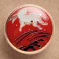 薩摩ボタン|Satsuma Buttons(20mm)|SBM-037 跳うさぎ(赤)|アロハタワー(アロハシャツ販売)