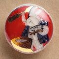 薩摩ボタン|Satsuma Buttons(20mm)|SBM-053 餅つき兎(赤)|アロハタワー(アロハシャツ販売)