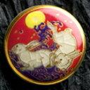 薩摩ボタン|Satsuma Buttons(25mm)|SBG-017 波うさぎ(赤)|アロハタワー(アロハシャツ販売)