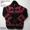 カウチンセーター(カウチンジャケット)|KANATA 社(カナタ)・カナダ製|KA39983 DIAGRAM SWEATER(ダイアグラム・セーター)|ブラ…