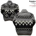 KANATAカウチンセーター|カナダ製|KA41688NORDICSWEATER(ノルディク・セーター)|グレイ|メンズ|ウール100%(Wool100%)|6PLYWOOL(6本撚り)|フルオープン|TALON2WAY[S](TALON製ジップアップ))|長袖