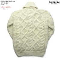 カウチンセーター(カウチンジャケット)|KANATA社(カナタ)・カナダ製|KA40998CABLESWEATER(ケーブル・セーター)|ホワイト|ウール100%(Wool100%)|6PLYWOOL(6本撚り)|フルオープン|TALON2WAY[S](TALON製ジップアップ)|長袖