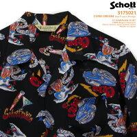 アロハシャツ|ショット(SCHOTT)SCH3175021|CUBADREAM(キューバドリーム)|VonFranco(ヴォン・フランコ)|ブラック|メンズ|レーヨン100%|開襟|フルオープン|半袖|アロハタワー(アロハシャツ販売)