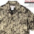 アロハシャツ|フラケイキハワイアン(HULAKEIKIHAWAIIAN)|マカナレイの姉妹ブランド|HK-19010百虎極ジャガード(HundredtigersextremeJacquard)|ゴールド|メンズ|コットン100%ジャガード|開襟|フルオープン|半袖|アロハタワー(アロハシャツ販売)