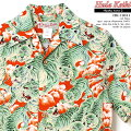 アロハシャツ|フラケイキハワイアン(HULAKEIKIHAWAIIAN)|マカナレイ(MAKANALEI)の姉妹ブランド|HK-19011百虎3(HYAKUTORA)|レッド|メンズ|レーヨンチリメン100%|開襟(オープンカラー)|フルオープン|半袖|アロハタワー(アロハシャツ販売)