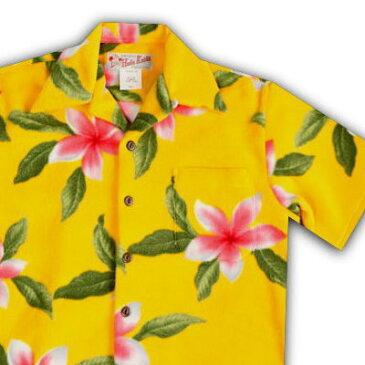 アロハシャツ・フラケイキ ハワイアン(HULA KEIKI HAWAIIAN)HK-H8729 プルメリア|イエロー|メンズ|アロハジャケット|Polyester Fleece 100%(ポリエステル・フリース100%)生地|開襟|フルオープン|半袖|アロハタワー(アロハシャツ販売) 10P11Mar16
