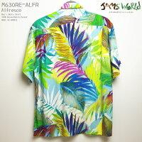 アロハシャツ ジャムズワールド(JAMSWORLD) M630RE-ALFR ALFRESCO(アルフレスコ) メンズ ハワイ製 レーヨン100%(100%rayon) ノーマル襟(レギュラーカラー) フルオープン 半袖 アロハタワー(アロハシャツ販売)