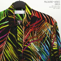 アロハシャツ|ジャムズワールド(JAMSWORLD)|M630RE-AREC|ARECA(アレカ)|メンズ|ハワイ製|レーヨン100%(100%rayon)|ノーマル襟(レギュラーカラー)|フルオープン|半袖|アロハタワー(アロハシャツ販売)