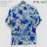 アロハシャツ|ジャムズワールド(JAMSWORLD)|M630RE-SIMP|SKYPETAL(スカイペタル)|メンズ|ハワイ製|レーヨン100%(100%rayon)|ノーマル襟(レギュラーカラー)|フルオープン|半袖|アロハタワー(アロハシャツ販売)