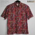 カハラ(KAHALA)|アロハシャツ|kh-5941OCEANMAN-AVI(オーシャンマン・アビ)|レッド|コットン・ブロードクロス100%(CottonBroadcloth100%)|ノーマル襟(レギュラーカラー)|フルオープン|半袖