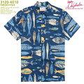 アロハシャツ|カハラ(KAHALA)|KH-KE10FRESHFISH(フレッシュフィッシュ)|ネイビー|メンズ|コットン・ブロードクロス100%|ノーマル襟|スタンダードフィット(やや細めのスタイル)|フルオープン|半袖|アロハタワー(アロハシャツ販売)