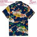 アロハシャツ|カハラ(KAHALA)|KH-KE29PA'ANI(パアニ)|コレクターズエディション|ネイビー|メンズ|レーヨン100%|開襟(オープンカラー)|スタンダードフィット(やや細めのスタイル)|フルオープン|半袖|アロハタワー(アロハシャツ販売)