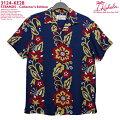 アロハシャツ|カハラ(KAHALA)|KH-KE28STRANDS(ストランド)|コレクターズエディション|ネイビー|メンズ|レーヨン100%|開襟(オープンカラー)|スタンダードフィット(やや細めのスタイル)|フルオープン|半袖|アロハタワー(アロハシャツ販売)