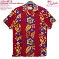 アロハシャツ|カハラ(KAHALA)|KH-KE28STRANDS(ストランド)|コレクターズエディション|レッド|メンズ|レーヨン100%|開襟(オープンカラー)|スタンダードフィット(やや細めのスタイル)|フルオープン|半袖|アロハタワー(アロハシャツ販売)