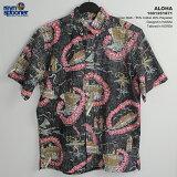アロハシャツ|レインスプーナー(REYNSPOONER)|0125-1871 ALOHA(アロハ)|コール|コットン55% ポリエステル45% (55% Cotton 45% Polyester)|プラケットフロント(表前立て)|裏地使い|ボタンダウン(BD Collar)|半袖|アロハタワー(アロハシャツ販売)