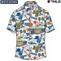 アロハシャツ|レインスプーナー(REYNSPOONER)|B2885-121-20|MLB2020メジャーリーグ公式(MLBSCENIC)|メジャーリーグベースボールオールスター(ALLSTAR)|コットン100%|ノーマル襟|半袖|アロハタワー(アロハシャツ販売)