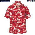 アロハシャツ|レインスプーナー(REYNSPOONER)|B2874-125-20|MLB2020メジャーリーグ公式(VINTAGEMLB)|メジャーリーグベースボールロサンゼルスエンゼルス(LOSANGELESANGELS)|レーヨン100%|ノーマル襟|半袖|アロハタワー(アロハシャツ販売)