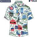 アロハシャツ|レインスプーナー(REYNSPOONER)|B2808-121-19|MLB2020メジャーリーグ公式(MLBSCENIC)|メジャーリーグベースボールシカゴカブス(CHICAGOCUBS)|コットン100%(100%Cotton)|ノーマル襟|半袖|アロハタワー(アロハシャツ販売)