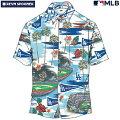 アロハシャツ|レインスプーナー(REYNSPOONER)|B2809-121-19|MLB2020メジャーリーグ公式(MLBSCENIC)|メジャーリーグベースボールロサンゼルスドジャース(LOSANGELESDODGERS)|コットン100%|ノーマル襟|半袖|アロハタワー(アロハシャツ販売)